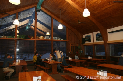 Inside communal table-landia