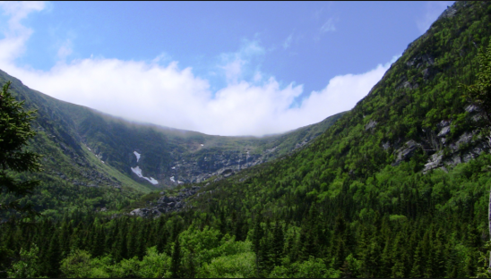 What Tuckerman Ravine looks like on a nice day (not ours)